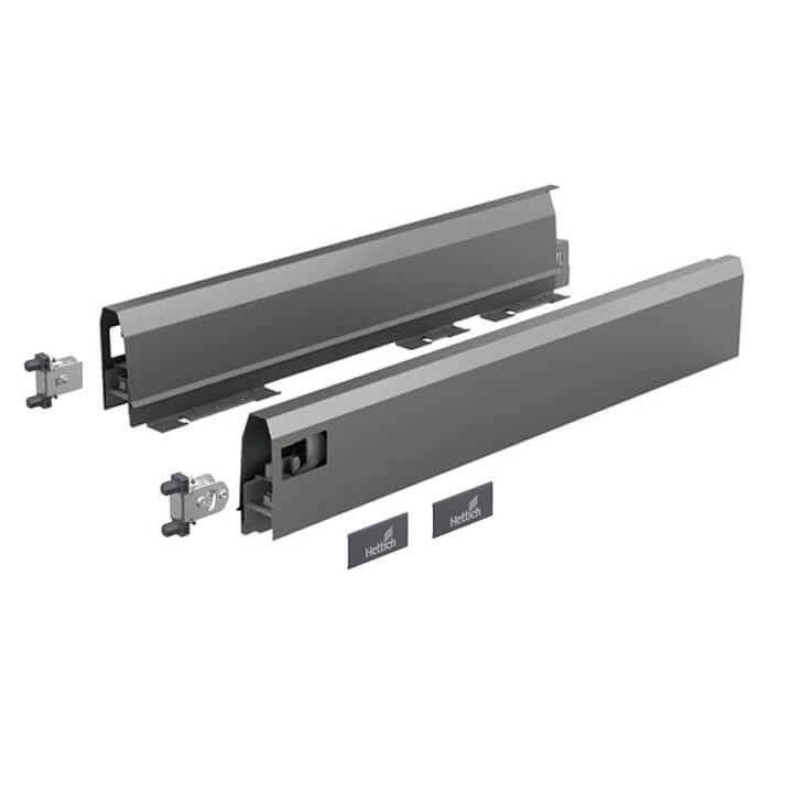 Hettich Set Zarge ArciTech 94 mm, anthrazit