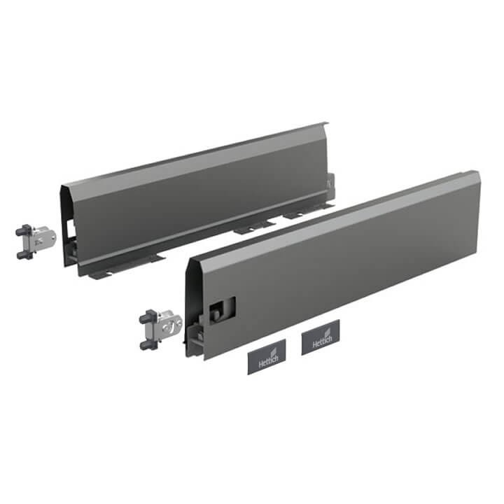Hettich Set Zarge ArciTech 126 mm, anthrazit