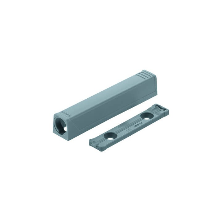 BLUM TIP-ON Adapterplatte für Türen, gerade hellgrau