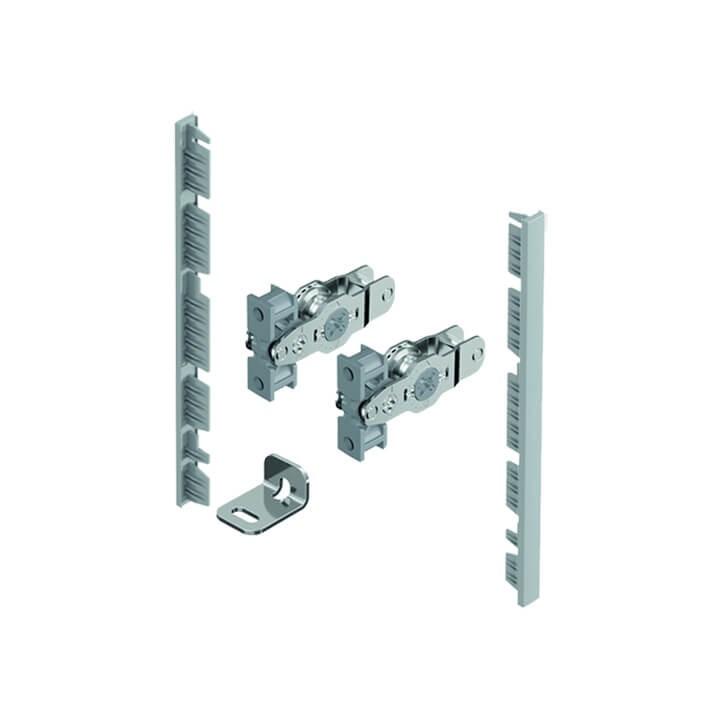 Hettich Verbinder für Innenfront für Zarge, Höhe 139 mm, Farbe: silber
