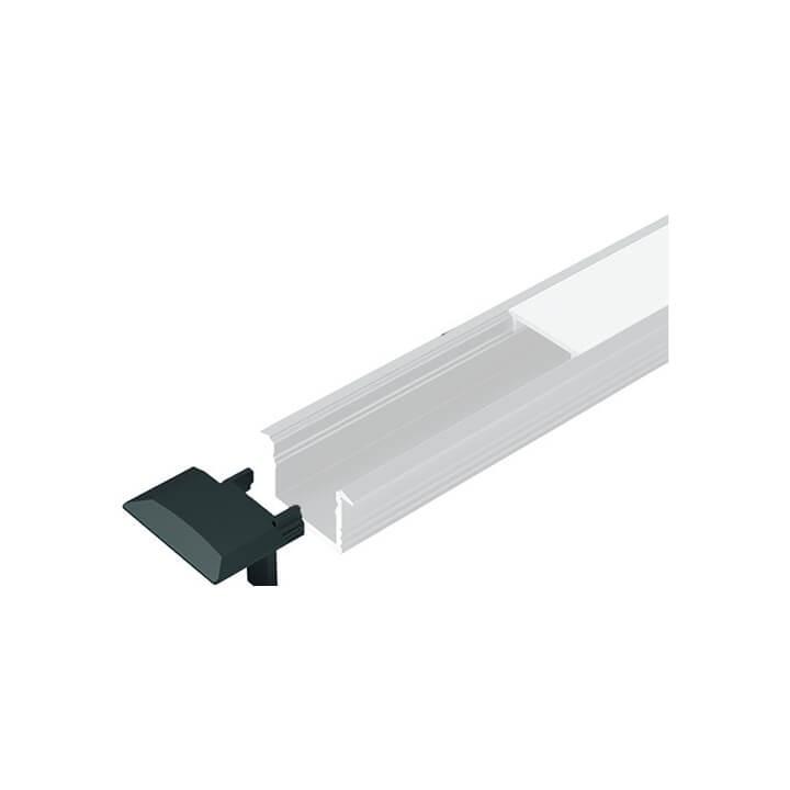 Endkappen zu LED ChannelLine B, black