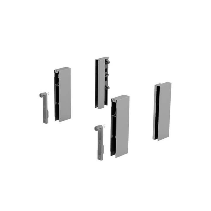Hettich ArciTech DesignSide Adapter 124 mm Silber