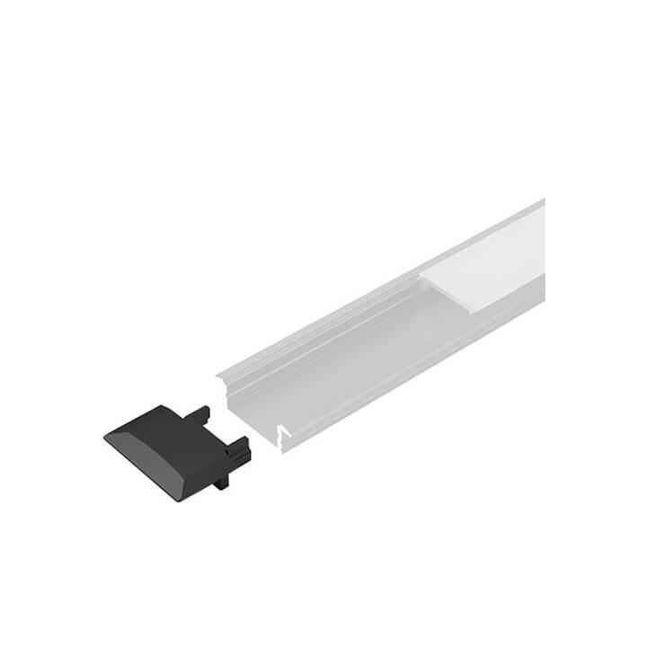 Halemeier Endkappen zu LED ChannelLine C black