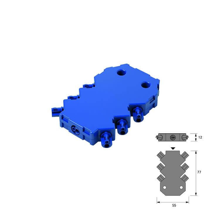 Halemeier LED 6-fach Verteiler MP2