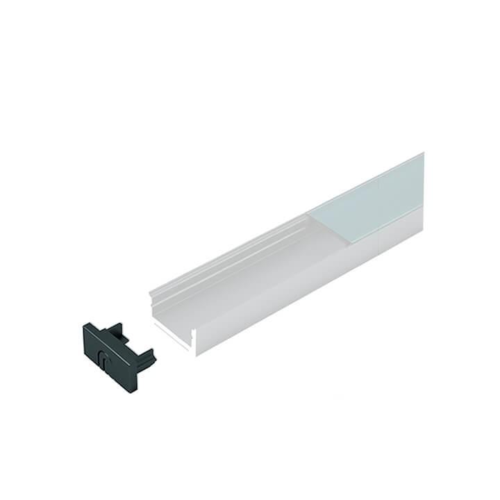 Endkappen zu LED ChannelLine D, black